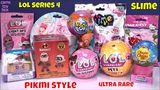 LOL SERIES 4 PIKMI 3 Unboxing Surprise Toys PETS SLIME KIDS FAMILY FUN Peppa Pig Review