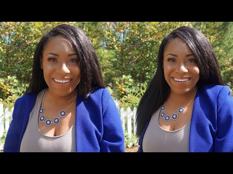 OUTRE X-PRESSION DOMINICAN BLOW OUT STRAIGHT CROCHET HAIR REVIEW| LIA LAVON