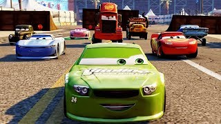 Cars 3: Driven to Win - Dr. Damage & Rich Mixon & Cruz Ramirez - Jackson Storm vs Lightning McQueen