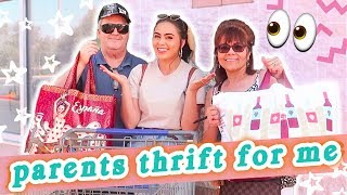 MY PARENTS THRIFT MY OUTFITS... // $20 THRIFTING CHALLENGE ♡