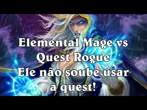 [Hearthstone] Elemental Mage vs Quest Rogue - Ele não soube usar a quest