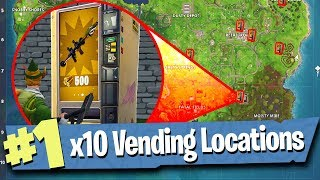 10 VENDING MACHINE LOCATIONS (with footage) - Fortnite Battle Royale