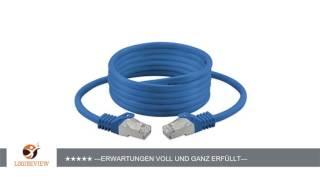 rocabo 20m CAT 7 - Patchkabel Netzwerkkabel LAN-Kabel – 2x RJ45 Netzwerk-Stecker – Ethernet Gigabit