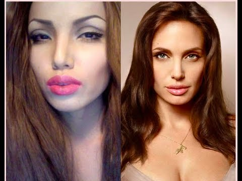 Angelina Jolie Make-up Transformation video