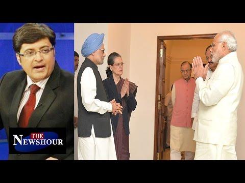 Narendra Modi Meets Sonia Gandhi And Manmohan Singh : The Newshour Debate (27th Nov )