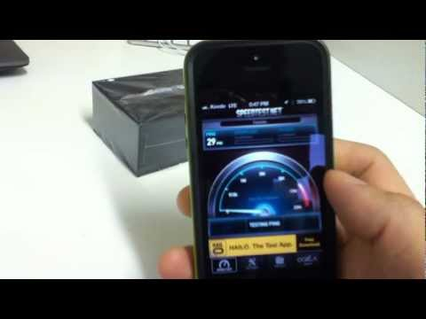 LTE 4G @ iPhone 5 using Speedtest.net