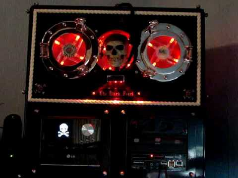 Computer With Animatronic Pirate Skull Quotes Line From Pirates Of The Caribbean video