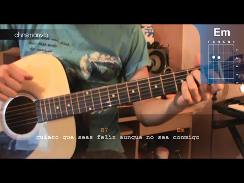 Como tocar Aunque no sea conmigo en Guitarra (HD) Tutorial