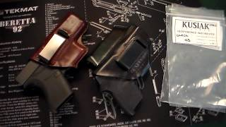 Kusiak Leather Holsters for Glock 43 & S&W Bodyguard.380!