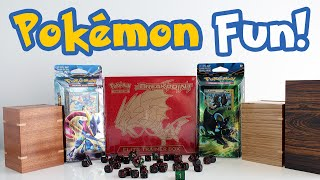 Fun Pokémon Trading Card Game Theme Decks! PLUS Pokémon Deck Boxes!