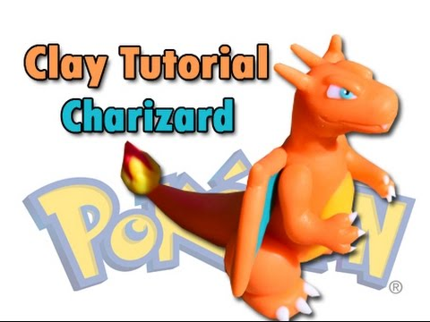 Charizard made of Polymer clay / Porcelana fria / Plastilina Tutorial