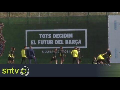 Barcelona prepare for Man City clash