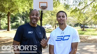 Can Steph Curry Beat Dad Dell in a Game of H-O-R-S-E? | GQ Sports