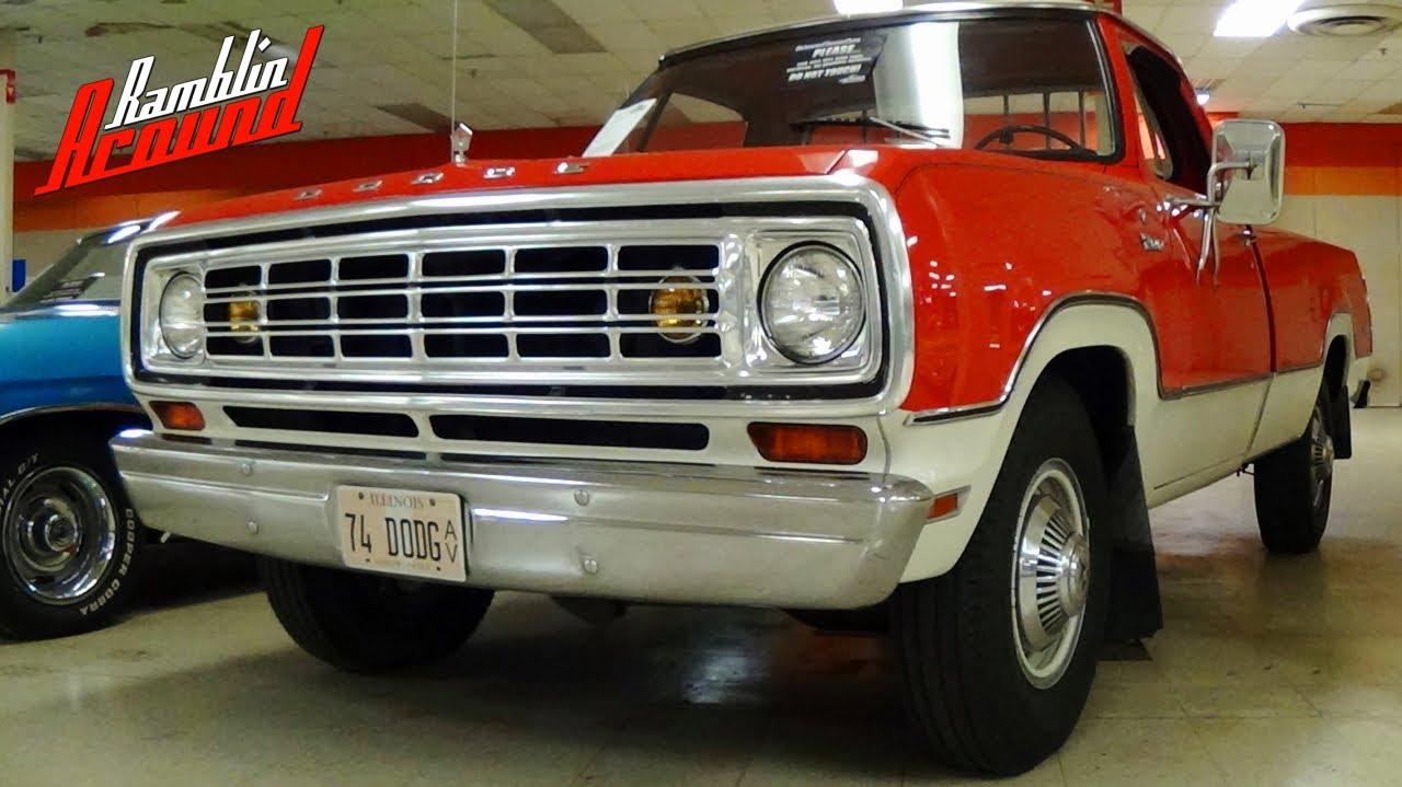 1974 Dodge Power Wagon For Sale >> 1974 Dodge D200 Pickup - All Original Survivor - YouTube
