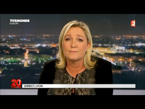 Marine Le Pen, invitée du 20H de France 2 le 30/11/2014