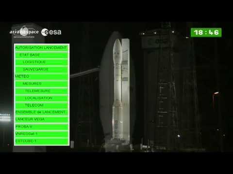 Part 1 - Arianespace Vega VV02 launch webcast coverage