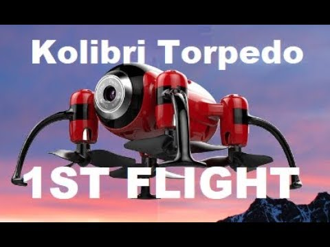 Kolibri Torpedo 1st Flight  Nano RC Camera Drone Review