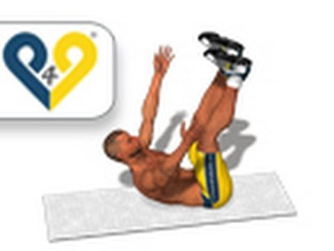 Vertical Leg Crunches - upper abs exercise