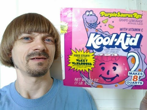 Kool Aid Wacky Warehouse 80s 90s -(Weird Paul) Kool Aid Man Mall Purplesaurus Rex Video Review