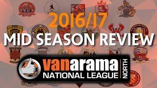 VANARAMA NATIONAL LEAGUE NORTH 2016/17 - Mid Season Review