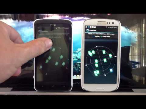 HTC one X vs Samsung Galaxy S3 GPS Test