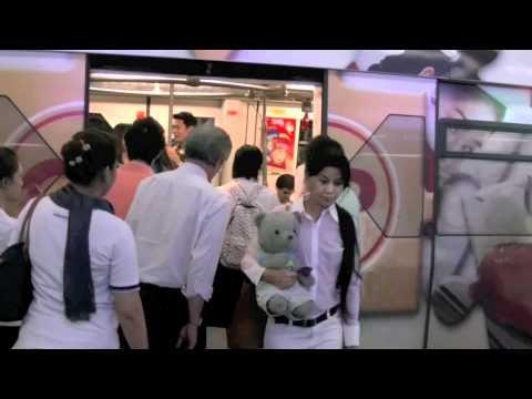 Bear on Bangkok's Sky Train