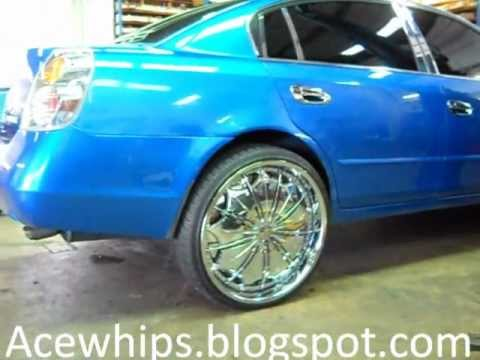 "Arctic Customs- Nissan Altima on 24"" Dub Presidential ..."