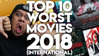 #ZHAFVLOG - DAY 361/365 - TOP 10 WORST MOVIES 2018 (International)   Malaysia Movie Review