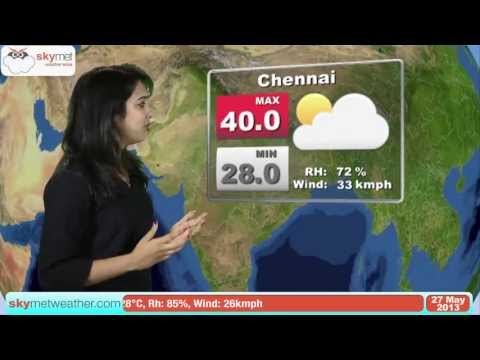 May 27, 2013 - Skymet Weather Report for India