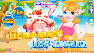 Homemade Ice Cream Cooking and Learning Online Game for Girls and Kids