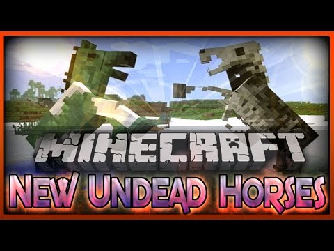 MineCraft | 1.7.4 | Undead Skeleton Horses Spawning! Must See!