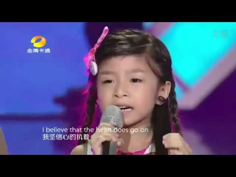 Suara merdu anak kecil Titanic song by little asian girl