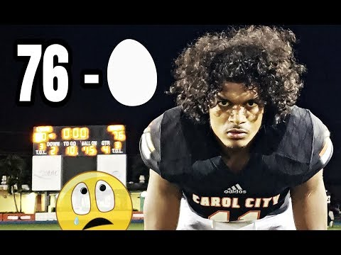 76-0 - Miami Carol City puts up 70 in the first half highlights