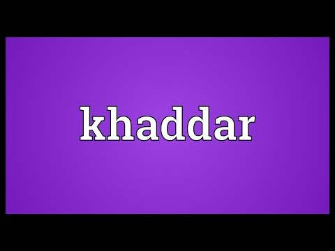 Header of khaddar