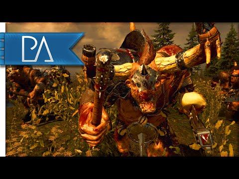 BEASTMEN STAMPEDE - Total War: WARHAMMER Gameplay