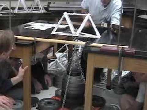 Paper Bridge World Record - 1071 lbs