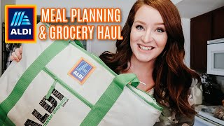 *HUGE* ALDI HAUL & MEAL PLANNING | GROCERIES ON A BUDGET | EASY DINNER IDEAS
