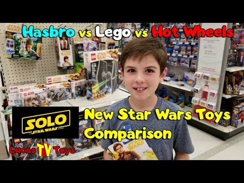 Watching video Star Wars Solo Movie Toys! Hasbro vs Lego vs Hot Wheels Star Wars Toys