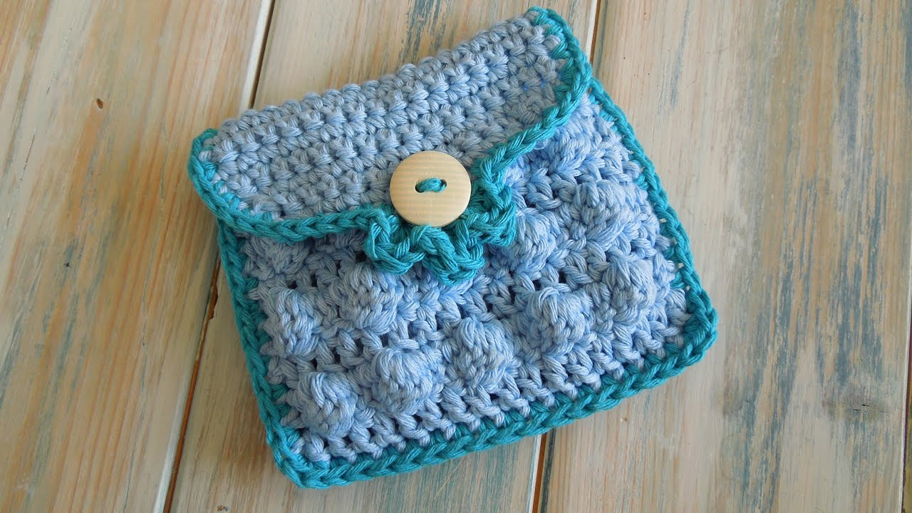 crochet) How To - Crochet a Small Purse - Yarn Scrap Friday - YouTube
