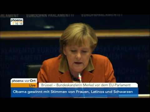 Angela Merkel vor dem EU-Parlament vom 07.11.2012