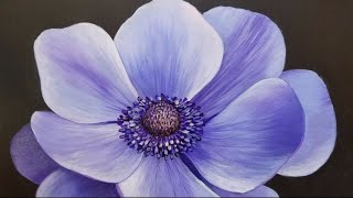 Blue Poppy LIVE Acrylic Painting Tutorial