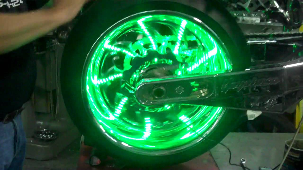 All Things Chrome Green Led Wheel Lights Plus A Little
