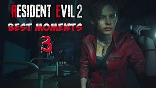 STREAMERS REACT TO RESIDENT EVIL 2 REMAKE - Scary/ Funny Moments! #3