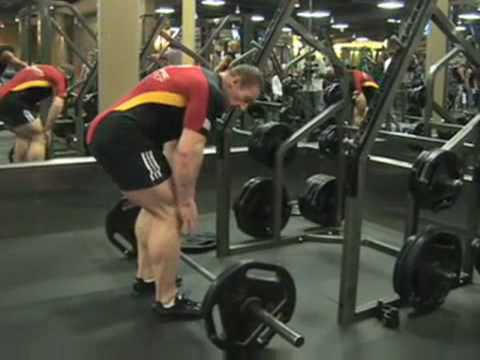 Dorian Yates Stiff legged deadlift
