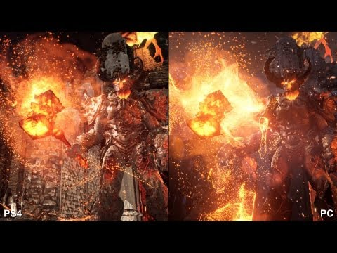 Unreal Engine 4: Elemental - PlayStation 4 vs. PC Comparison