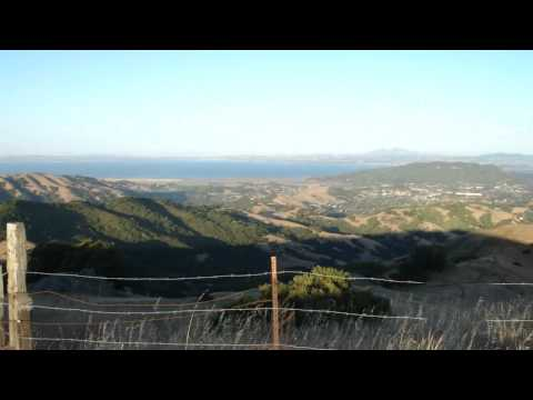 Sweeping view of SF Bay Area from Luiz Fire Road Across from Big Rock Ridge OpenSpace
