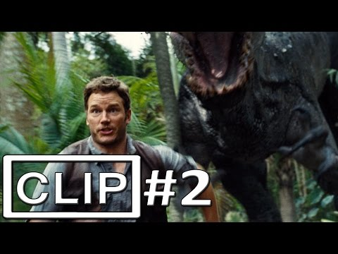 "Jurassic World ""Owen Escapes Indominus Rex Paddock"" Clip Official"