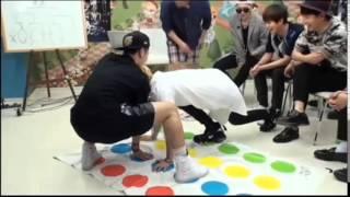Block B playing Twister [U Kwon vs Kyung]
