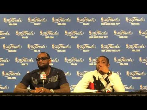 LeBron James and Dwyane Wade speak after the Miami Heats Game 5 loss to the San Antonio Spurs
