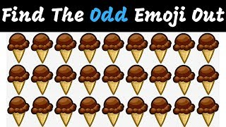 Find The Odd Emoji Out | Spot The Difference Emoji Vol#7 | Emoji Puzzle Quiz | Find the difference